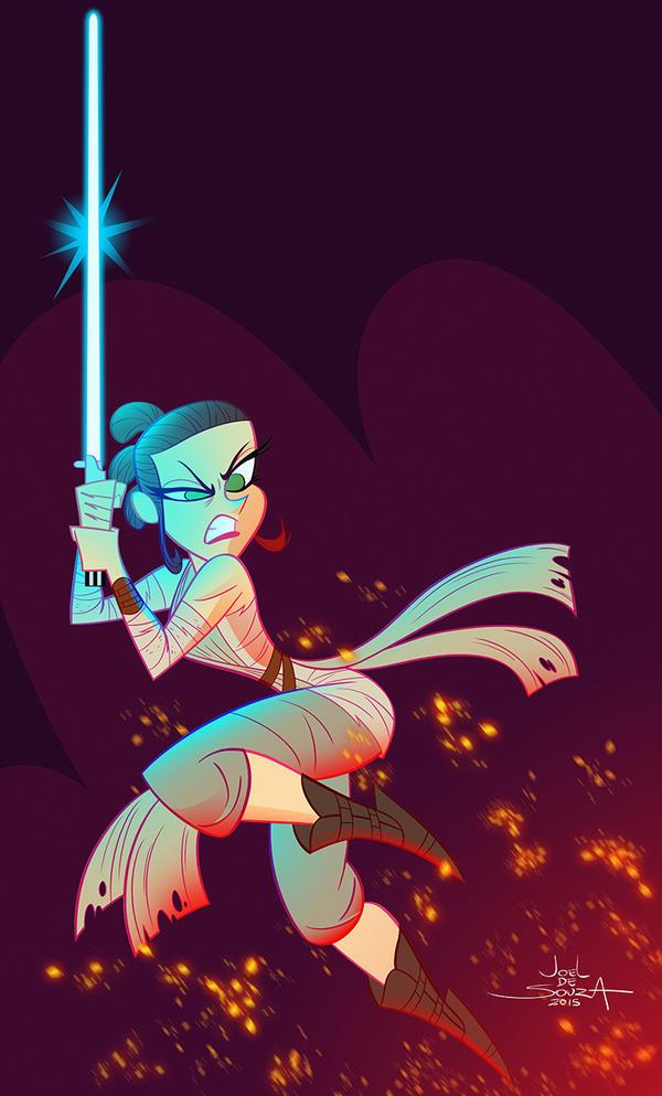 Rey - Star Wars VII by jfsouzatoons