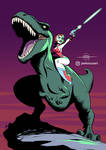 COMMISSION - Dinosaurs and Laser Guns