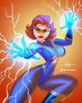 COMMISSION- Lady Lightning (OC)