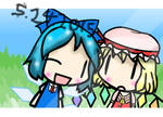 [Walfas] A photo with Cirno and Flandre