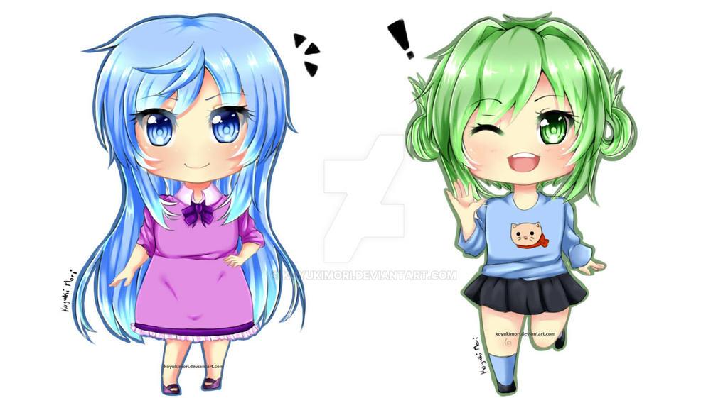 Chibi Tayuri and Mineko by KoyukiMori