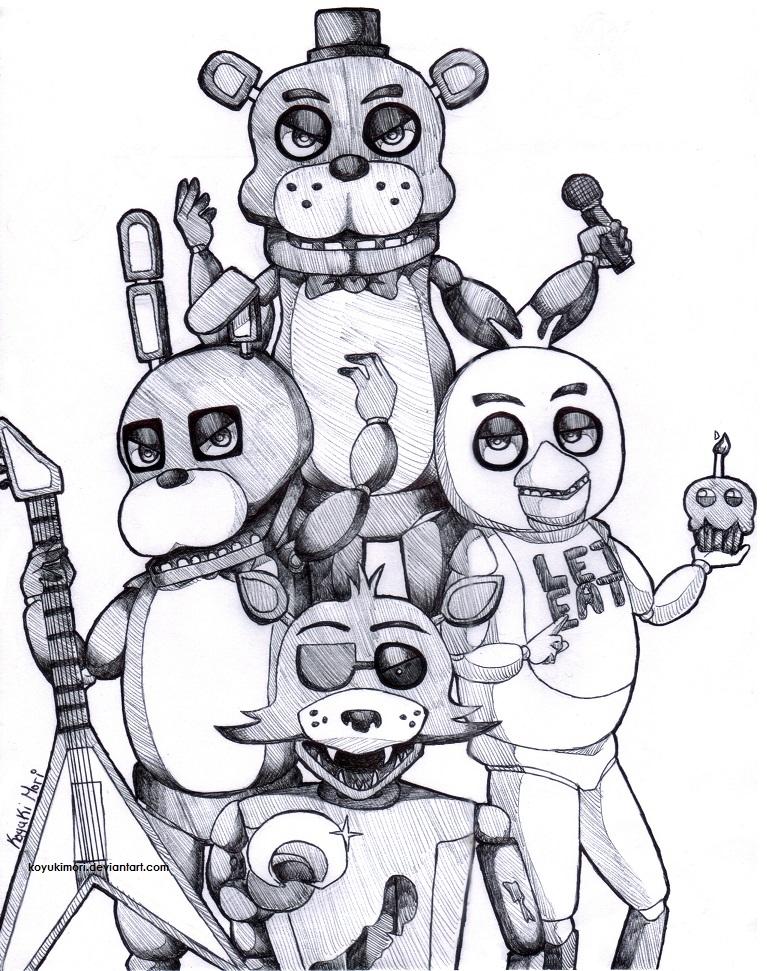 FNAF: The gang is all here by KoyukiMori