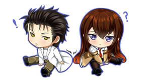 Steins Gate: Chibi Kurisu and Okabe