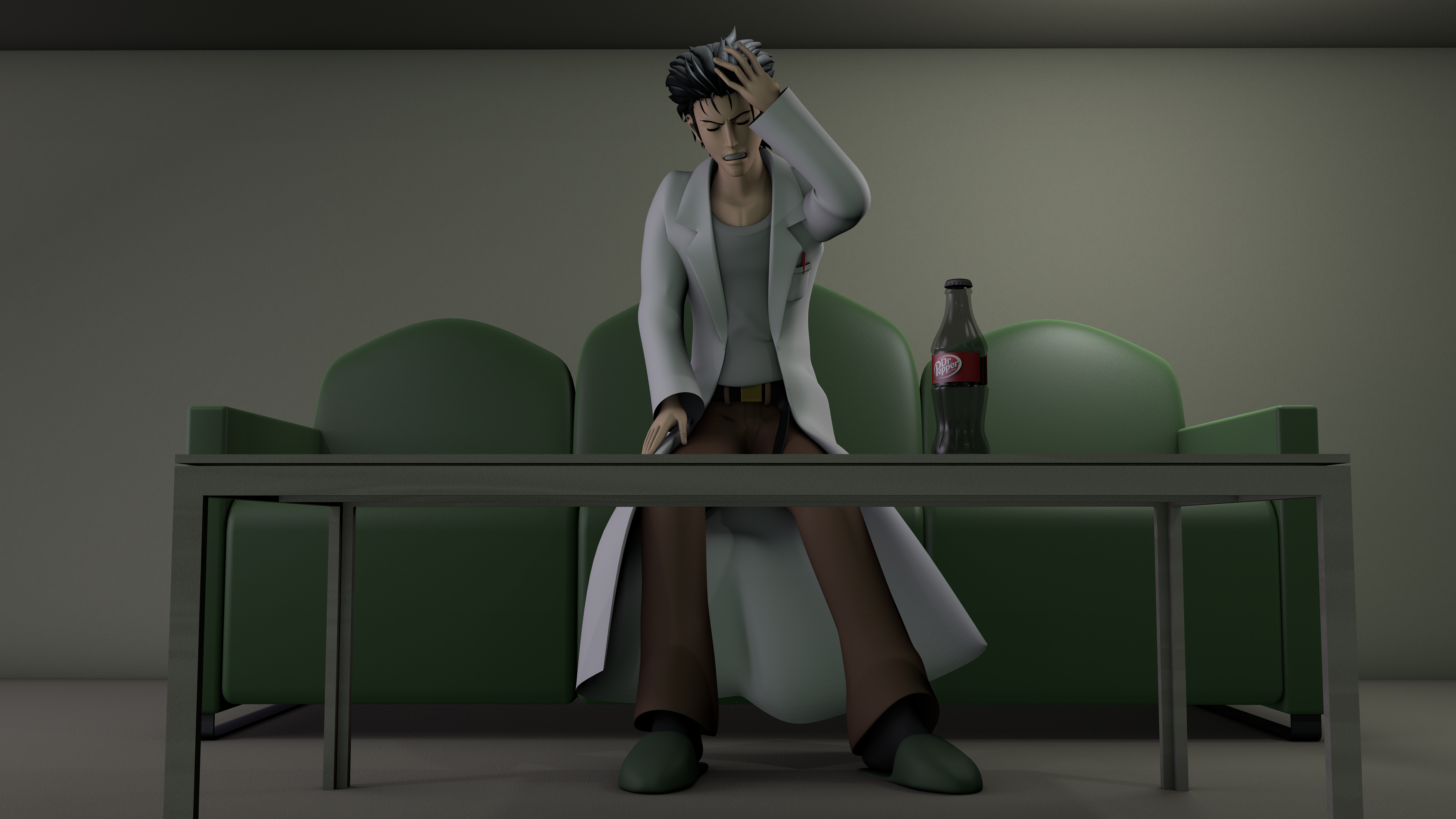Okabe Rintarou - Strange headache by TheRPGPlayer