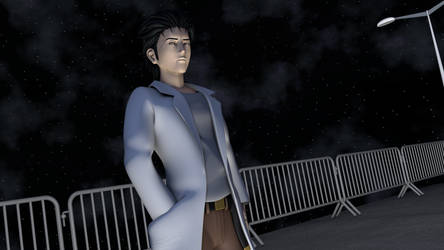 Okabe Rintarou... at night by TheRPGPlayer