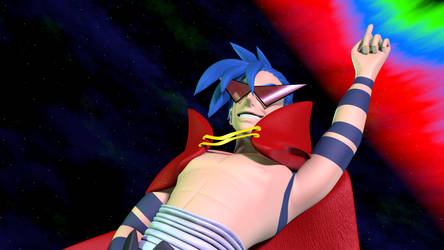 Kamina aims for the Heavens by TheRPGPlayer