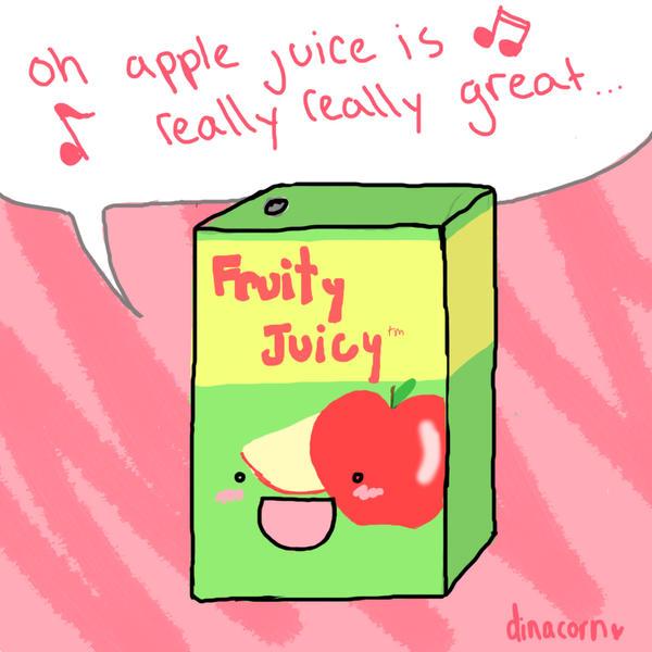 apple juice by dinacorn