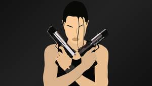 Angelina Jolie as Lara Croft - Art