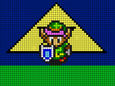 Link Pixel Art by SparkyC123