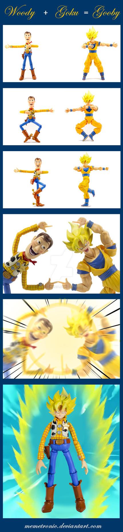 Fusion: Woody + Goku = Gooby by memetronic