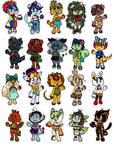 Mix of chibi adopts (10/20) by xAdoptablesForAllx
