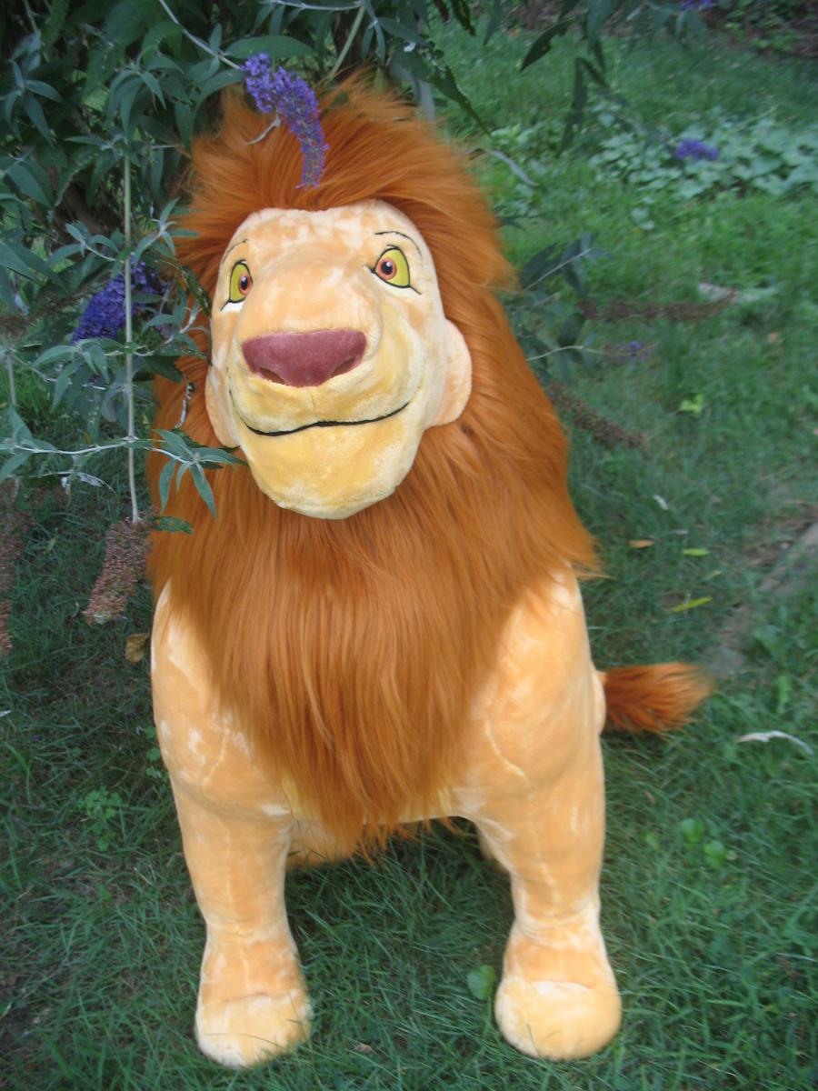 .:2011 Disney store jumbo Mufasa plush:. by Wolvesforeva