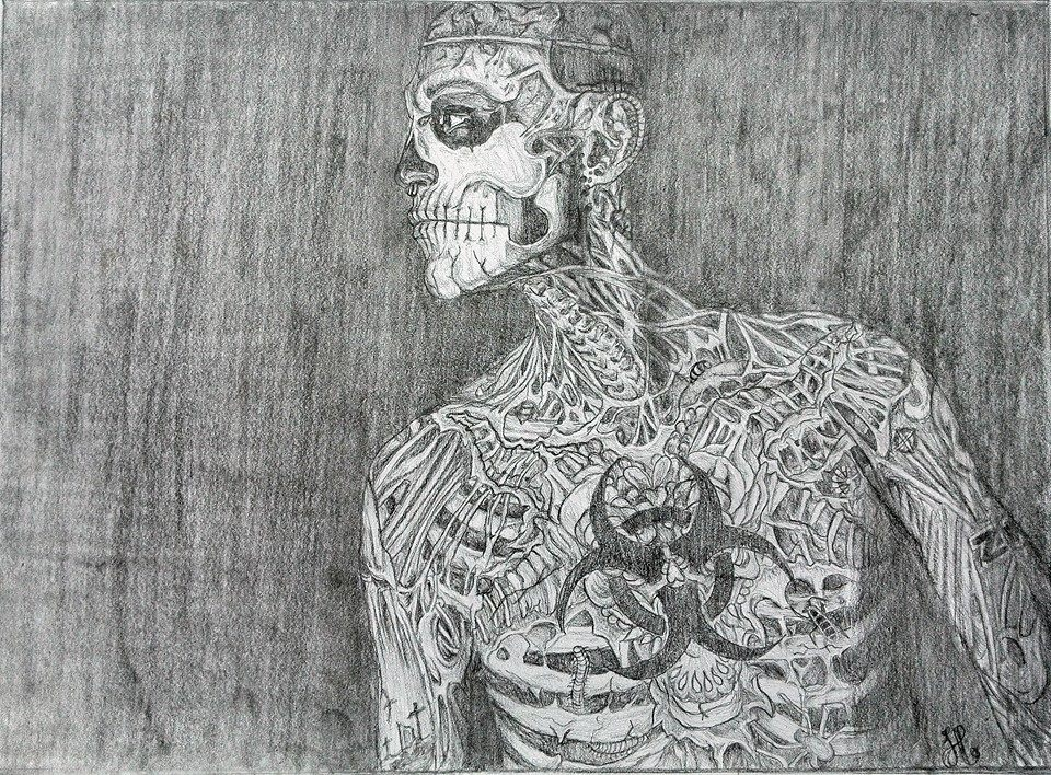 Rick Genest a.k.a. zombie man by henriekeboer