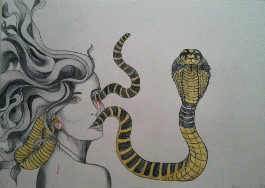 Snakes running through my veins by henriekeboer