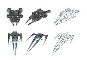 Spaceship sketch by tranenlarm