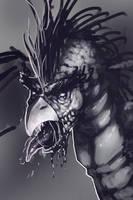 undead dragon-bird by tranenlarm