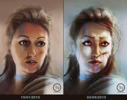 Viking girl - REDRAW by tranenlarm