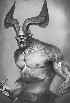 Big horns but handless by tranenlarm