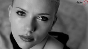 Wallpaper Debian Linux 'Scarlett Johansson'