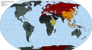 Orwell's World: 1984 map by OneHellofaBird