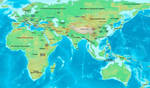 Old World reference map, 3000 BC