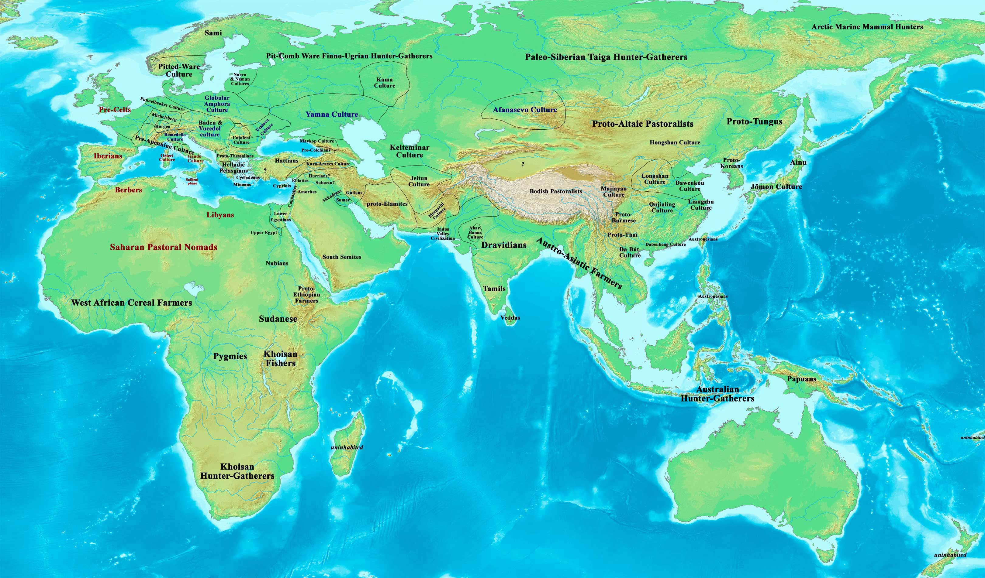 Old World Reference Map BC By OneHellofaBird On DeviantArt - Map of egypt 3000 bc