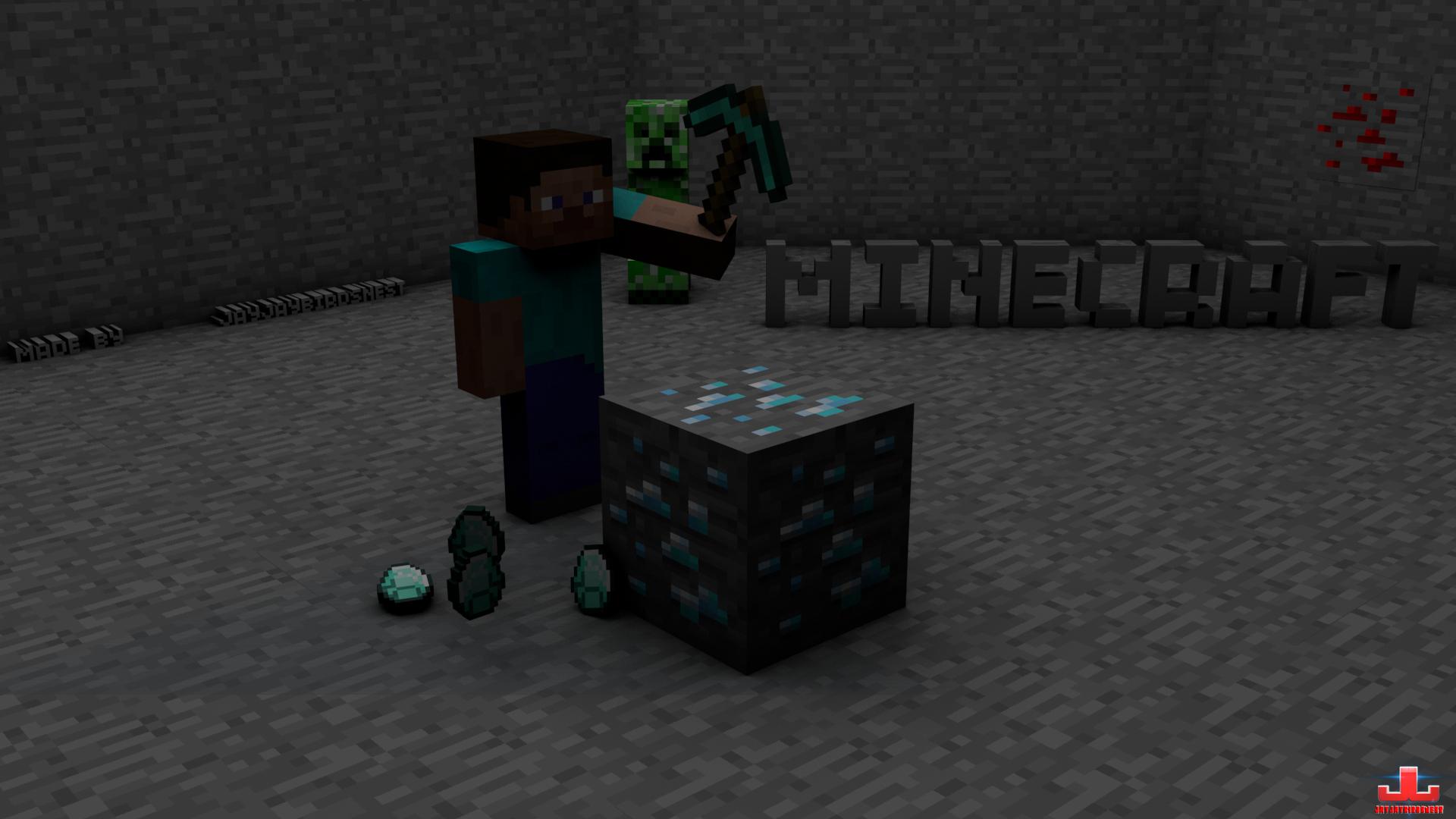 Minecraft wallpaper hd diamond