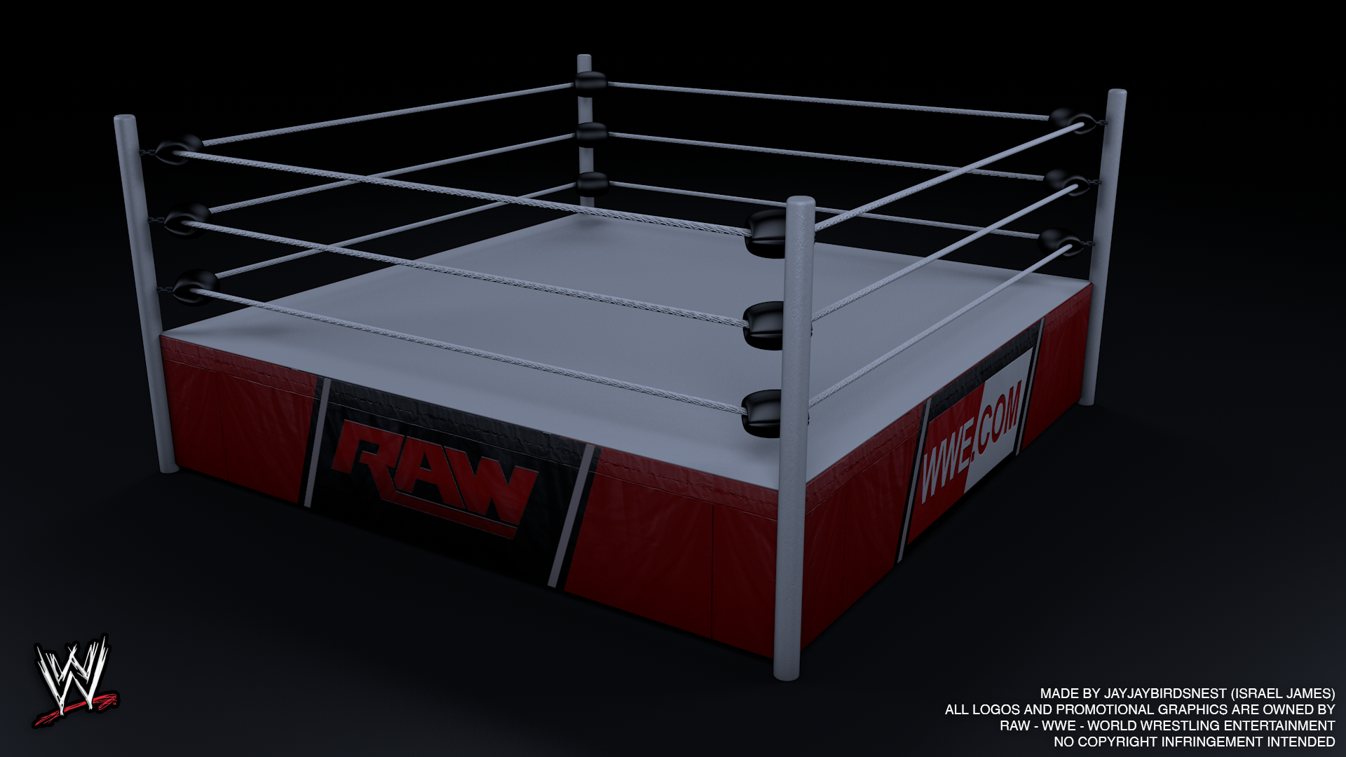 Wwe Raw 3d Wrestling Ring By Jayjaybirdsnest On Deviantart