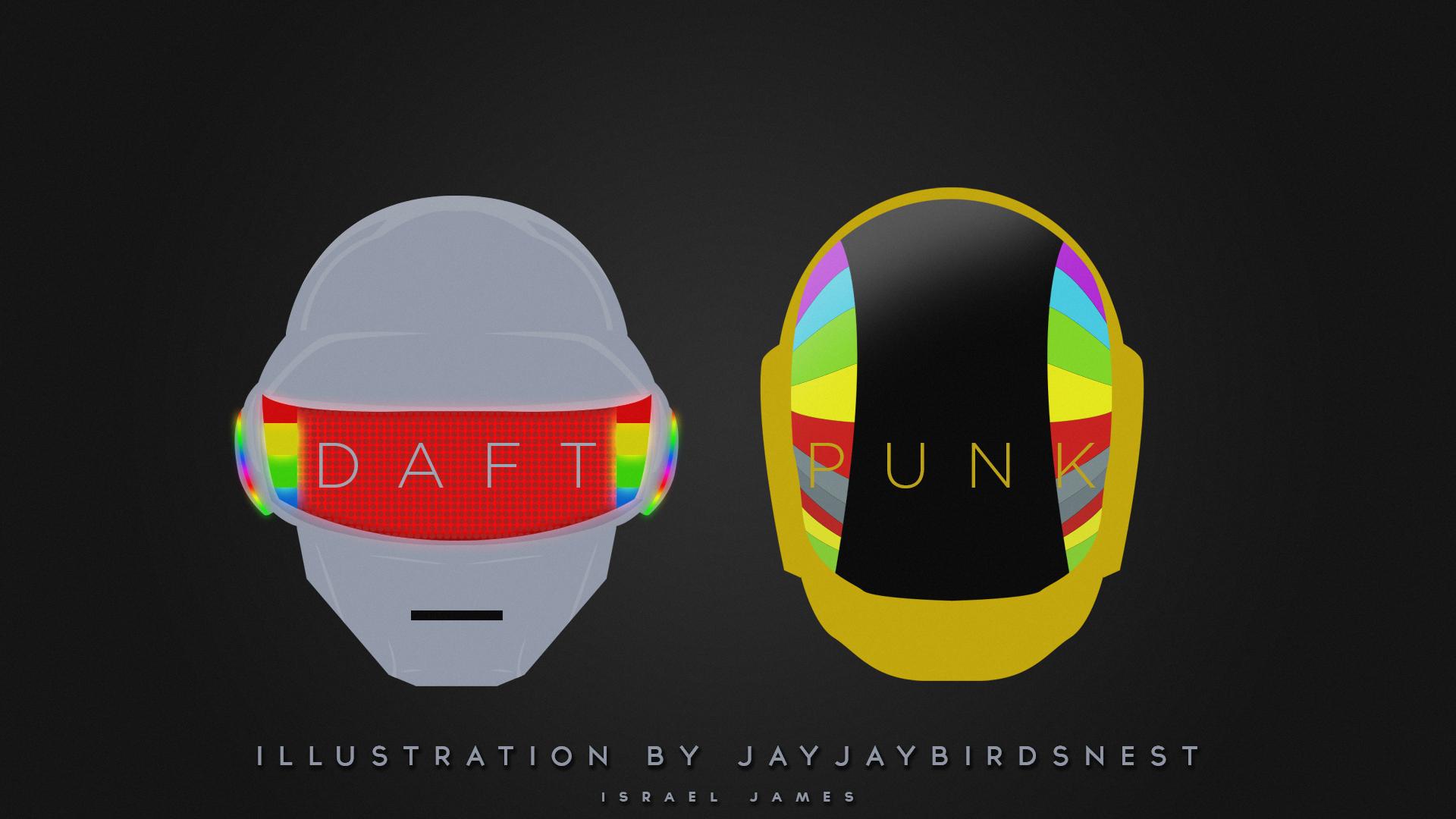 DAFT PUNK HELMETS ILLUSTRATION by jayjaybirdsnest on ...