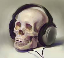 skull painting by Samarskiy