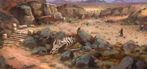 desert concept art by Samarskiy