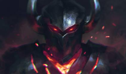 Chaos knight speedpainting by Samarskiy