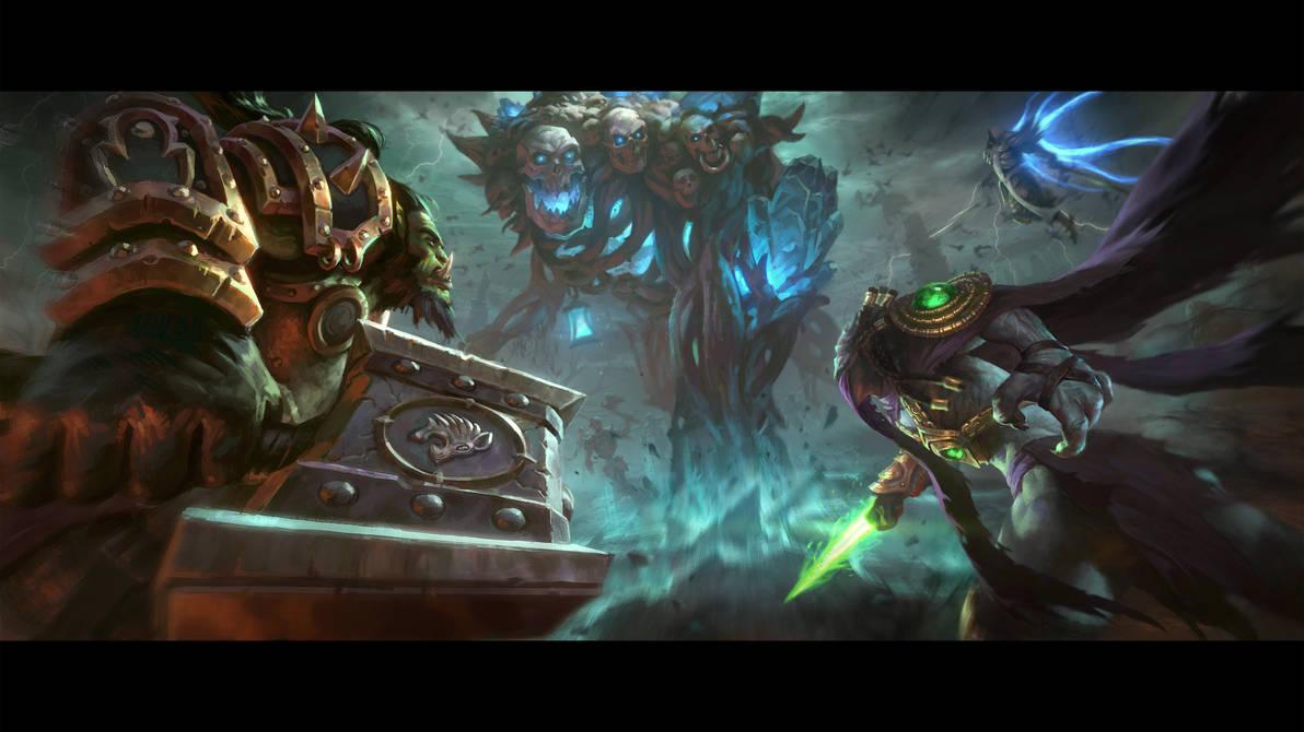 Battle against Grave Golem by Samarskiy