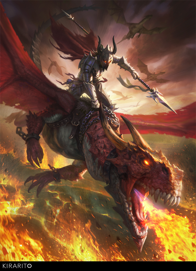 Dragon rider by Samarskiy