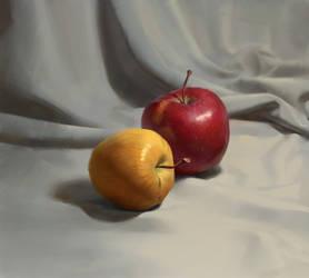 Still life with apples tutorial by Samarskiy