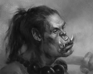 Orc sketch by Samarskiy
