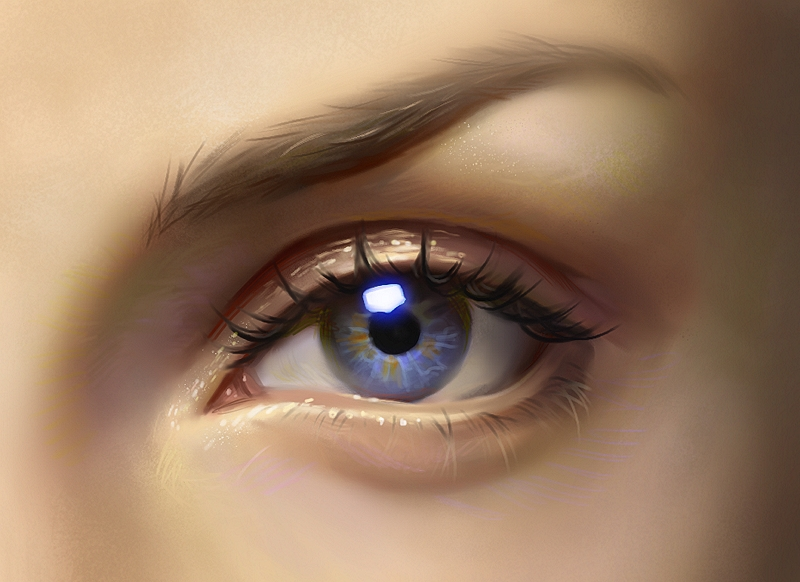 Eye painting - video process by Samarskiy