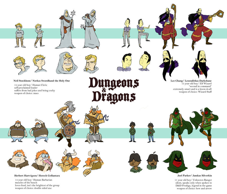 Dungeons and dragons character sheet by spuds n stuff
