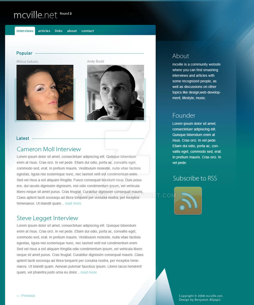 mcville.net redesign concept