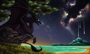 Commission for Bluedusk-dragon by Tearraven