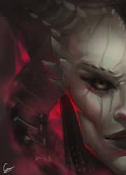 Lilith fanart from Diablo 4