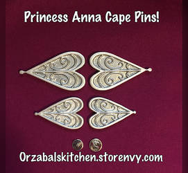 For Sale: Princess Anna Cape Pins