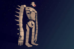 Laputian Robot Wallpaper by WhimsyWulf