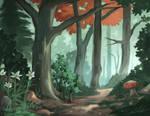 Digital Woodland Painting