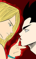 Android 18 and Vegeta