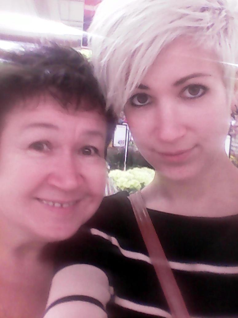 Selfie with Mom by RiaBodai