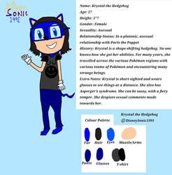 Krystal the Hedgehog Ref Sheet 2021