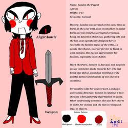 London the Puppet Ref Sheet 2021
