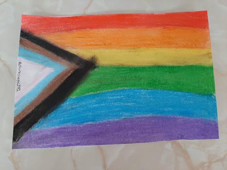 Pride Flag Oil Pastel