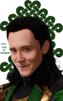 Loki Digital Portrait by Erkillers